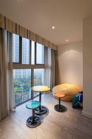 阳台窗帘简约风格装修设计图片