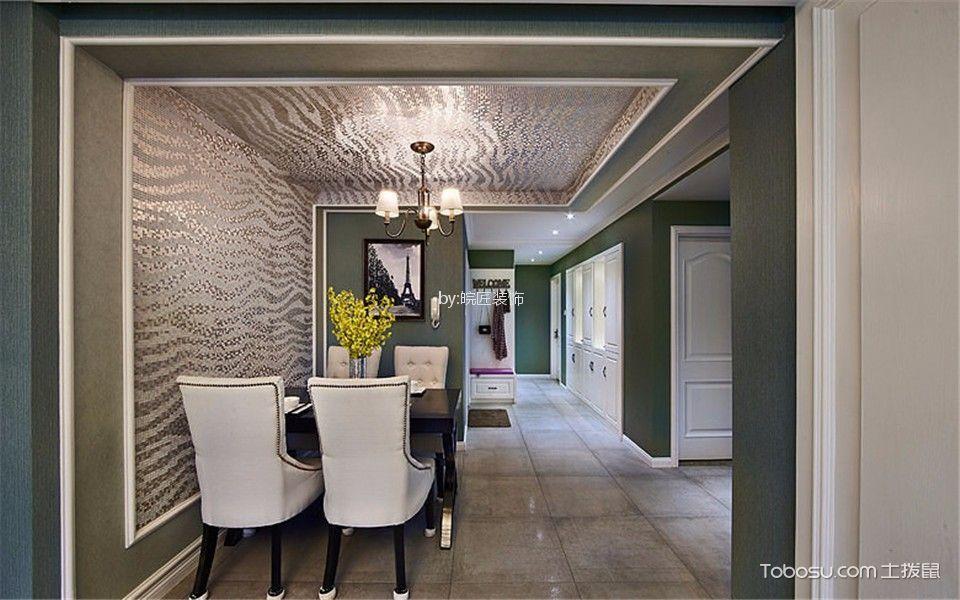 餐厅灰色地砖欧式风格装饰效果图
