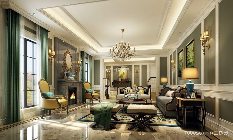 龙湖143m²欧式风格三居室装修效果图