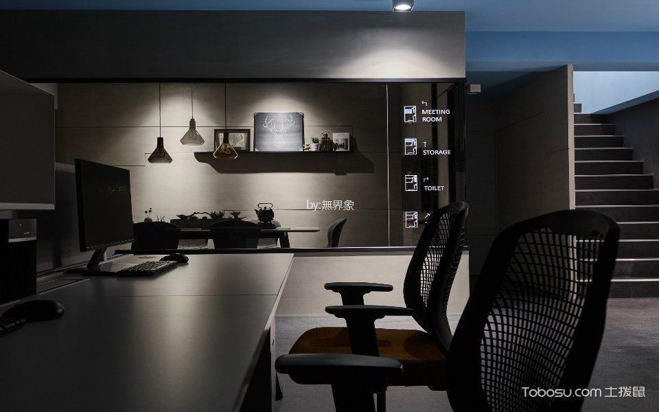 龙TA X 框办公室背景墙装修图片