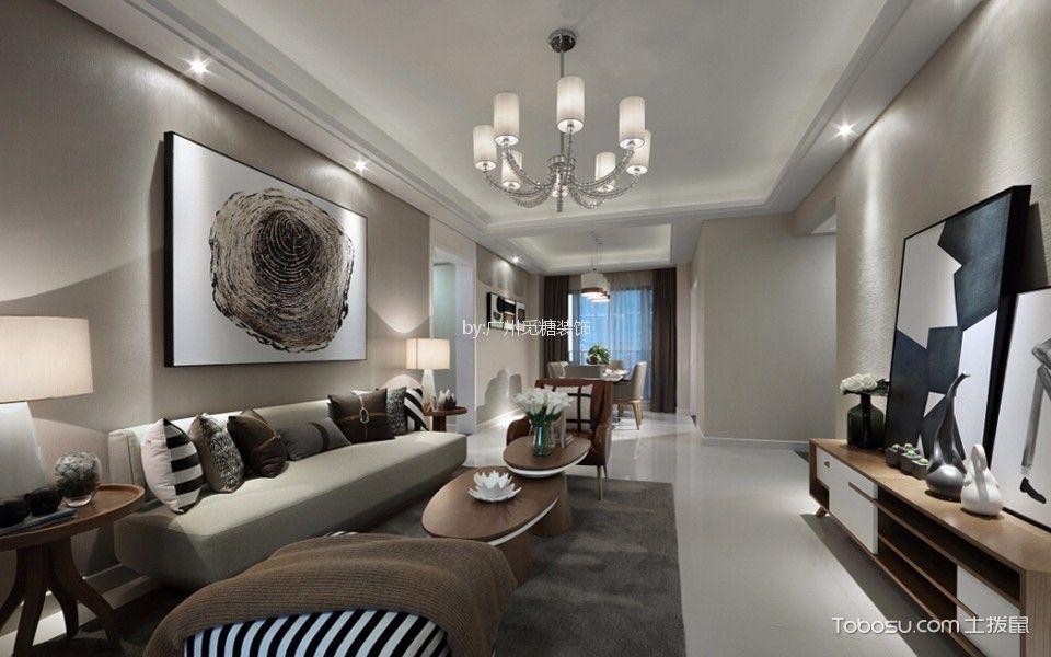 欧式风格120平米两室两厅新房装修效果图