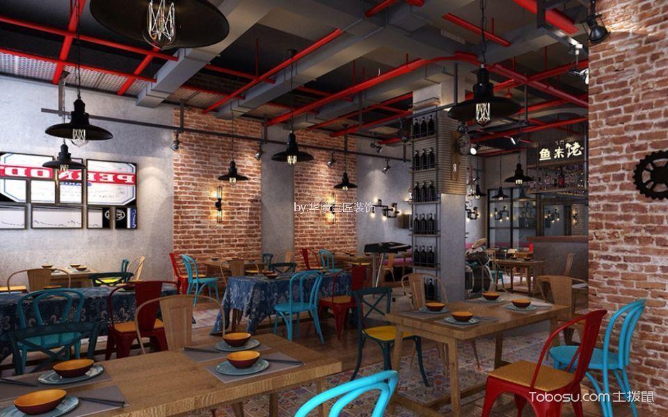 未来方舟鱼跃餐厅饭店背景墙装修图片