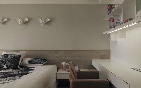庄重现代白色床装潢设计图片