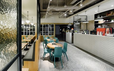 DACOZ大口吃手创汉堡店快餐店装修效果图