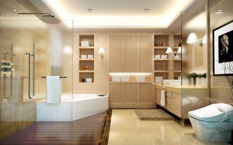 浴室白色浴缸现代简约风格装潢设计图片