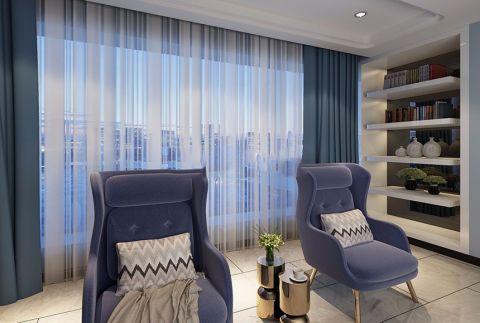完美客厅窗帘装饰效果图
