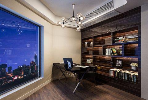 书房黑色书桌装修案例图片