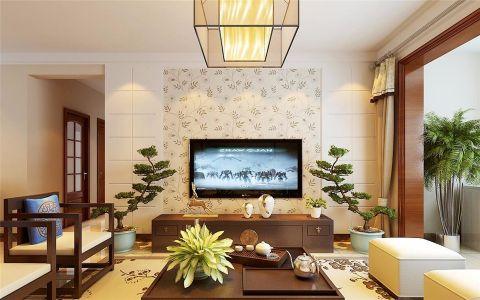 新中式风格140平米楼房室内装修效果图