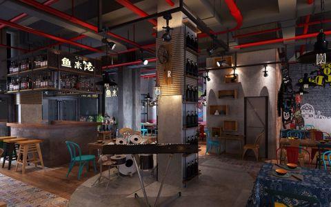 未来方舟鱼跃餐厅饭店装修效果图