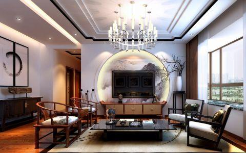 现代中式风格140平米四室两厅新房装修效果图