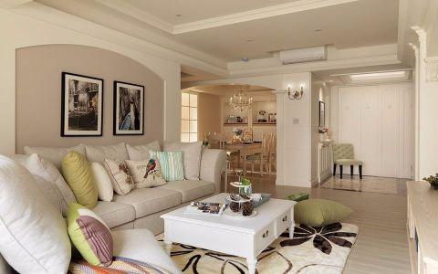 客厅走廊美式风格装修图片