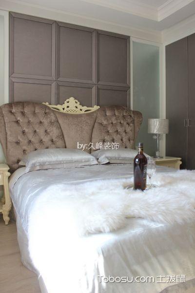 卧室咖啡色床简欧风格效果图