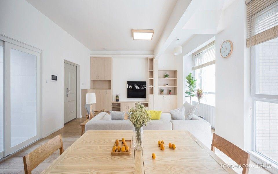 日式风格100平米两室两厅新房装修效果图
