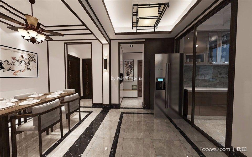 乾隆大地120平新中式风格套房装修效果图