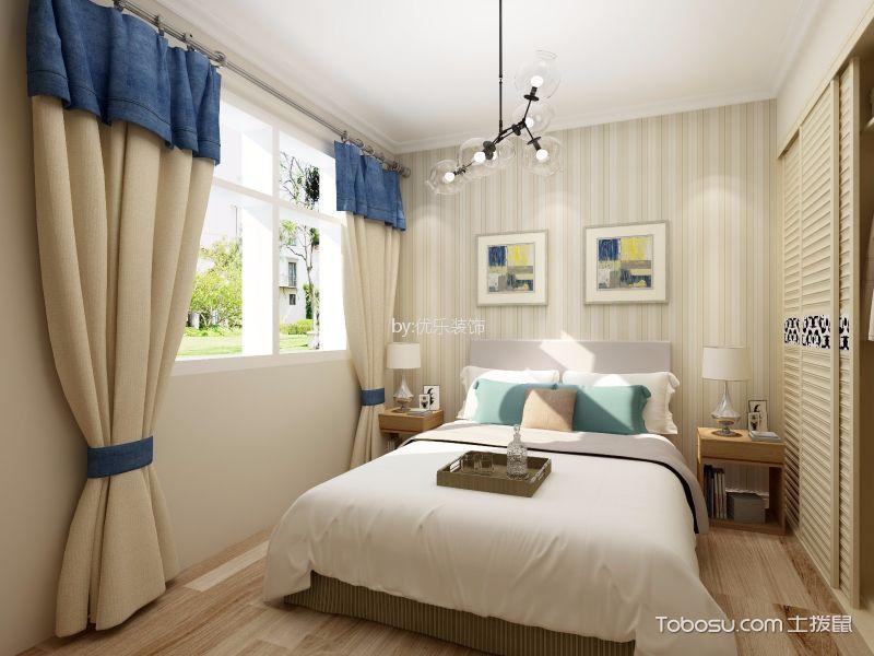 卧室黄色照片墙北欧风格装饰设计图片