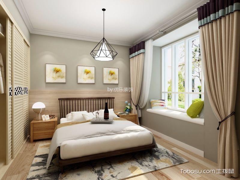 卧室灰色照片墙北欧风格装潢设计图片