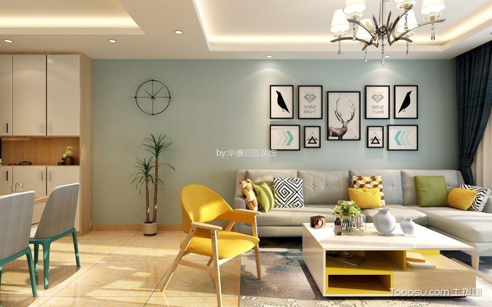 110平北欧风格三居室装修效果图