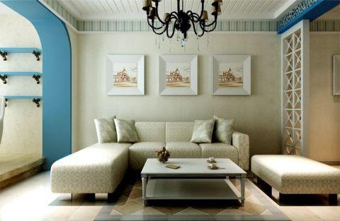 地中海风格88平米套房室内装修效果图