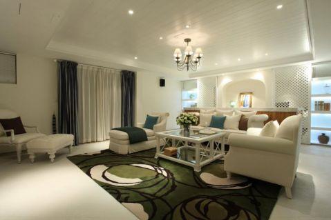 地中海风格141平米三室两厅新房装修效果图