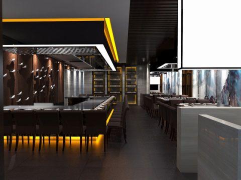 上禾森秋铁板料理餐厅餐馆装修效果图