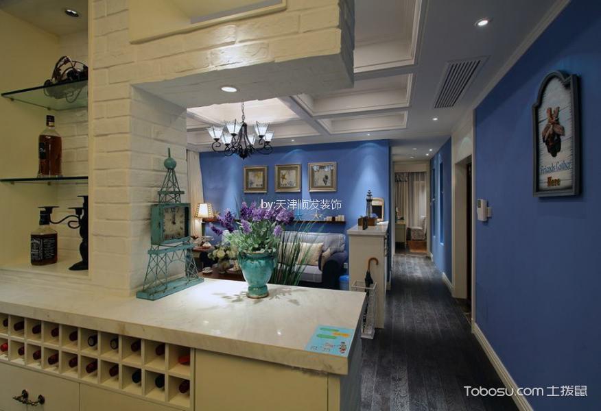 客厅灰色地板砖地中海风格效果图