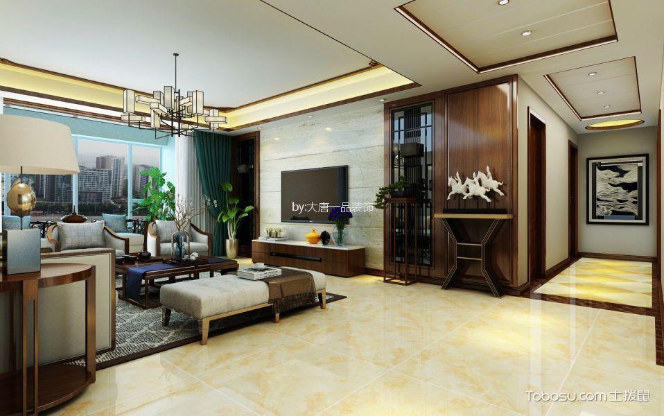 沁水新城新中式风格四居室装修效果图
