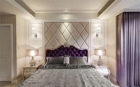 卧室紫色床家装设计