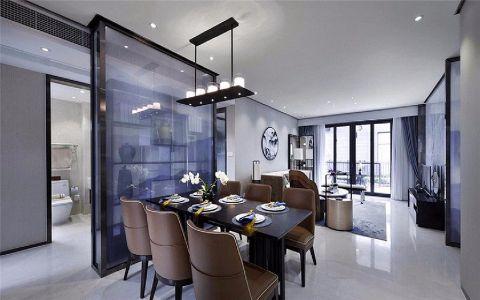 现代简约餐厅吊顶装饰图片