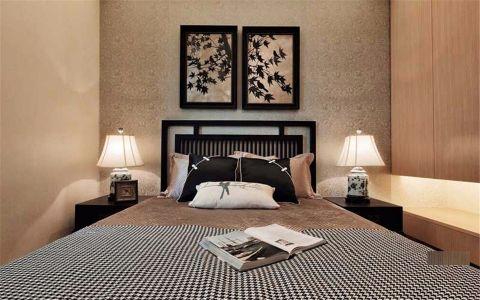 卧室黑色床家装设计图