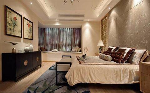 卧室窗帘新中式室内装修图片