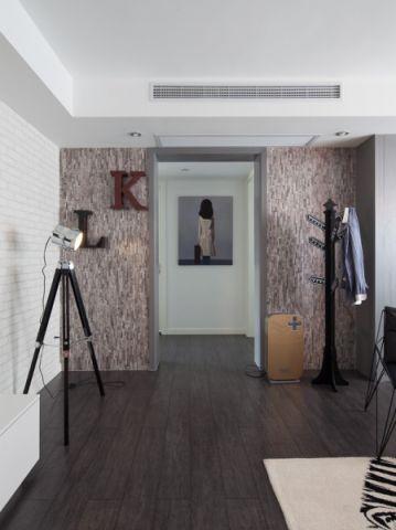 客厅咖啡色地板砖混搭风格效果图