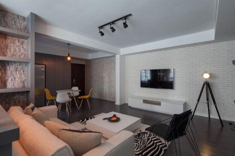 客厅白色茶几混搭风格装修效果图