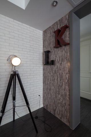 客厅白色隔断混搭风格装潢效果图