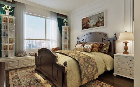 卧室床头柜美式装潢实景图