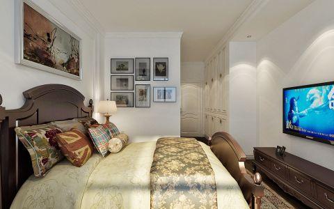 卧室白色美式风格装潢效果图