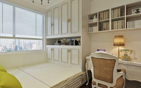 儿童房白色榻榻米美式风格装饰图片