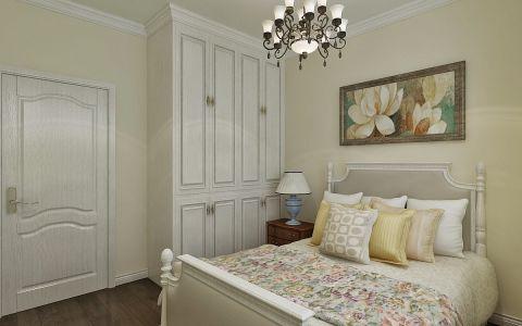 卧室白色衣柜美式风格装潢图片