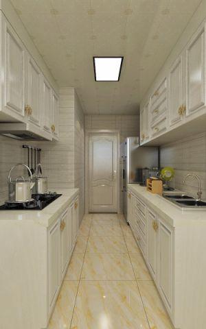 厨房白色美式风格装饰设计图片