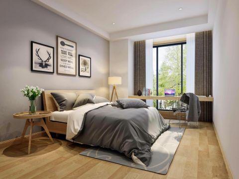 卧室灰色照片墙日式风格装饰图片