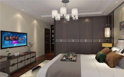 卧室白色吊顶新中式风格装饰设计图片