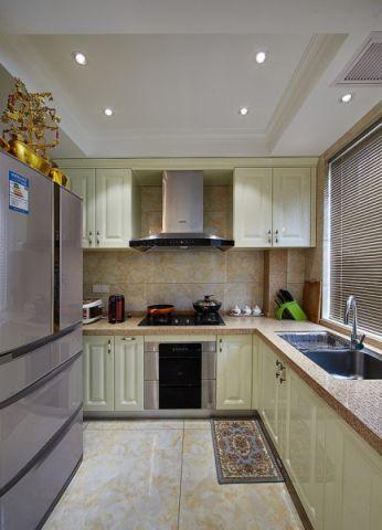 厨房白色吊顶现代风格装潢设计图片
