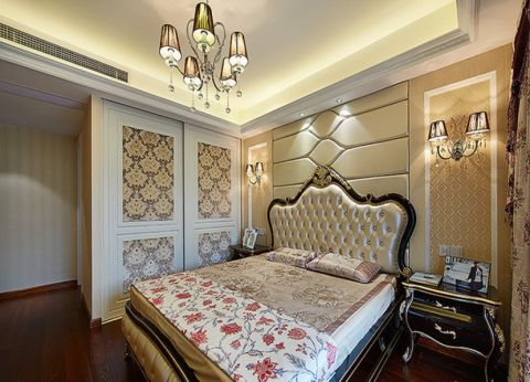 卧室黑色床头柜现代风格效果图
