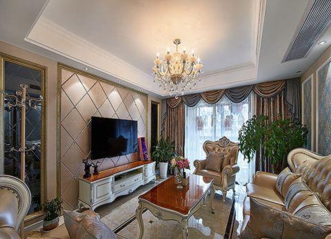 客厅白色电视柜现代风格装饰效果图