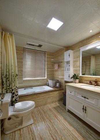 浴室黄色浴缸现代风格装修效果图