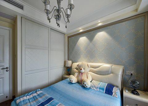 儿童房白色衣柜现代风格装潢效果图