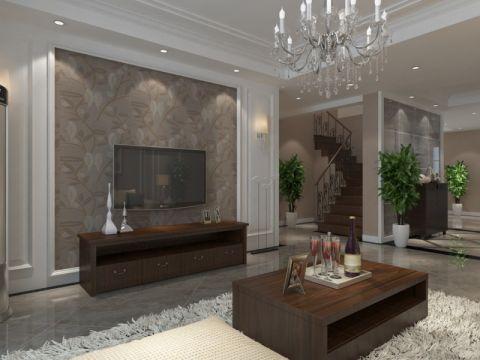 客厅咖啡色茶几现代简约风格装饰图片