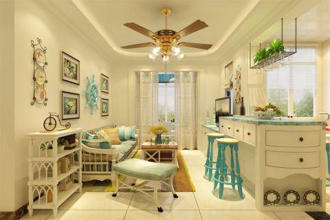 盛世府邸地中海96平二居室装修效果图