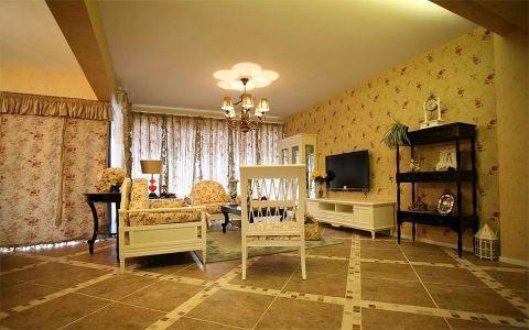 田园风格90平米三室两厅新房装修效果图