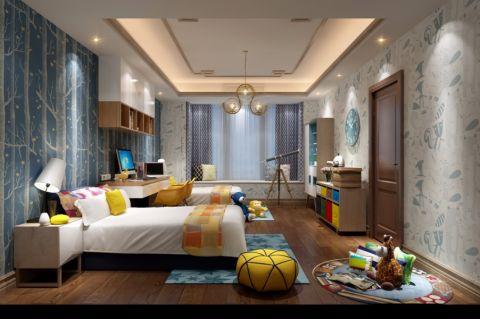 重庆鲁能领秀城335平米别墅新中式风格别墅设计效果图