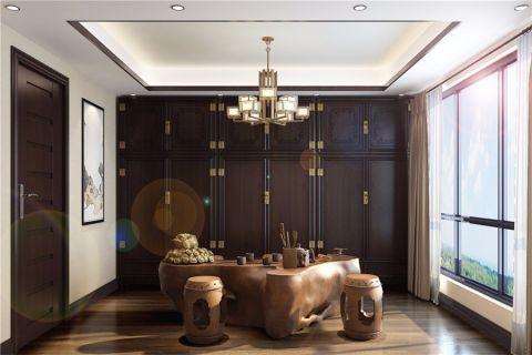 世茂维拉269平米新中式风格别墅装修效果图